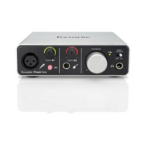 Focusrite I Track Solo Lighting Interfaccia Scheda Audio USB Compatibile Con IPad