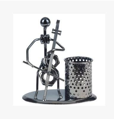 Withered-Pen holder Decorative Pen organizer/portapenne con lovely Music Iron Man Style9-Cello