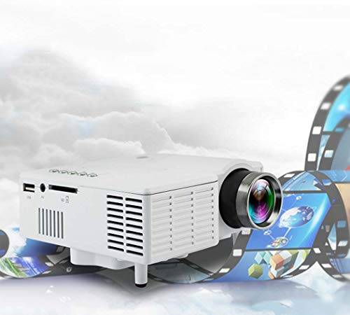 WSHZ Mini Film Projectorfilm Proiettore Home Theater Visual Video Projectorsupport 1080P TV HDMI Outdoor Indoor Movie Night, Lettore DVD, Smartphone, Laptop, Gioco,White