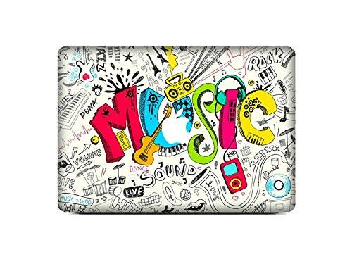 Yter Conveniente Music Pattern Macbook Laptop Film Sticker Coperchio di protezione per guscio Paster for Air 11.6
