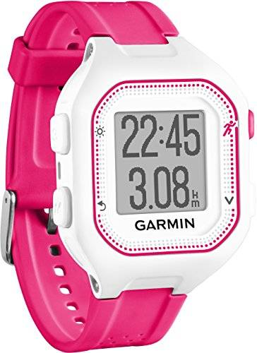 Garmin Forerunner 25 GPS Running con Funzione Fitness Band, Smart Notifications e Live Tracking, Small, Bianco/Rosa