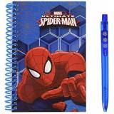 Marvel Ultimate Spiderman - Block Notes con Penna