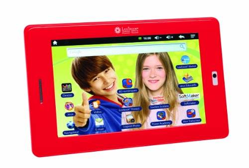 Lexibook Ultra 4GB Red - tablets (Mini tablet, Android, Slate, Android, Red, Lithium)
