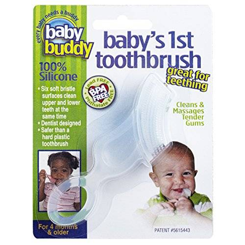 Baby Buddy Baby'S 1St Toothbrush, Clear, Clear