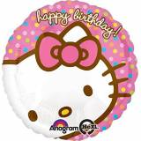 Amscan Ciao Kitty Buon compleanno standard Foil Palloncino