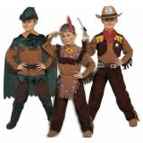 Ciao 10050 - 3 in 1 West: Indiano, Cow Boy, Robin Hood, 6-8 Anni, Marrone/Verde