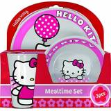BBS 118799A - Hello Kitty Tulip Mealtime Set, 3 Pezzi in Melammina