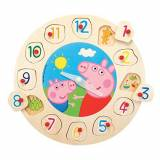 Eichhorn Simba 100007216009 - Peppa Pig Orologio Puzzle in Legno 12 Pz