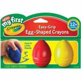 Crayola My First Crayola Easy Grip Egg Shaped Crayons 3pc-Blue, Red And Yellow