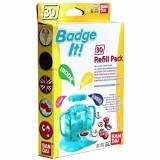 Bandai - 33301 - KIT Mondo Creativo - Ricaricare Badge It! - 30 Buttons - Giallo