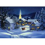 Vermont Christmas Company Christmas Steeple boxed Christmas Cards–15Cards/16buste