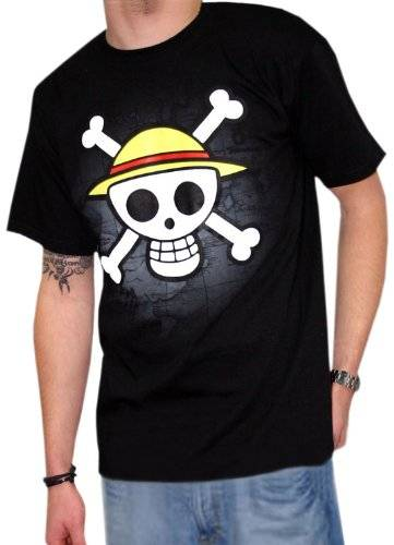 One Piece T-shirt Skull With Map Taglia M