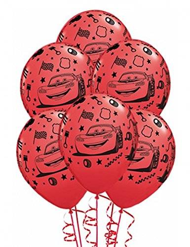 Qualatex Amscan 11-inch Latex Cars 2 Party Balloons (Pack of 5)