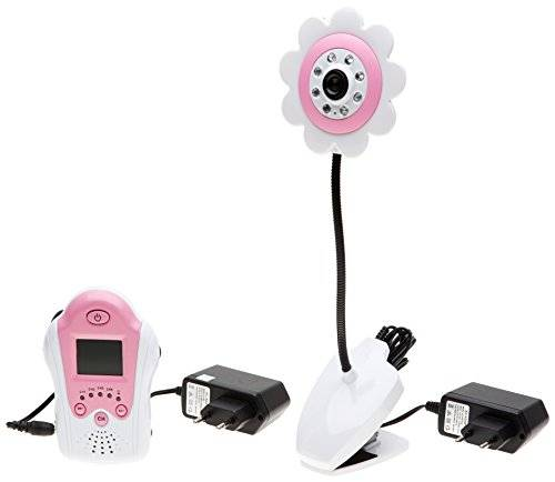 OEM SYSTEMS Baby Monitor Fiore Rosa Visione Notturna Uscita Video