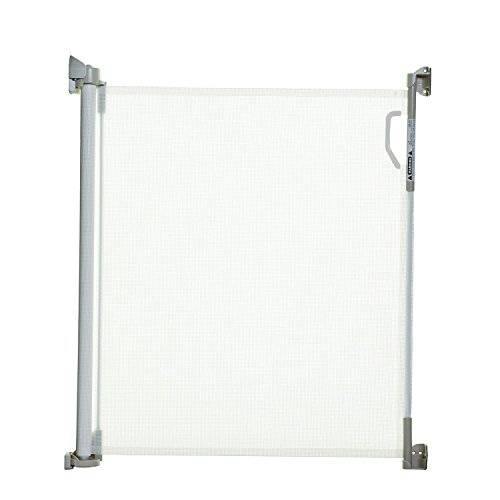 Stork Child Care- Cancelletto Di Sicurezza Retrattile Per Aperture Fino A 140 Cm- Bianco
