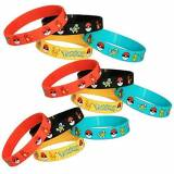 Gifts & Crafts Co Pokemon Party Supplies Silicone Wristband Bracelet Favors 12 Count by Gifts & Crafts Co