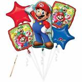 Anagram IRPot - BOUQUET PALLONCINI FOIL SUPER MARIO BROS KIT N 2 COMPLEANNO BAMBINO
