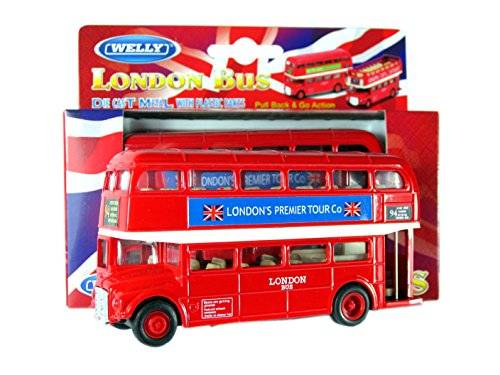 Diecast models Londra Double Decker Modello Red Bus (Pull Back & Go Action) in fusione di M. Die ..