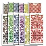 Creative Products Craftstickers Holographic gemme Stickers-Adesivi, motivo floreale, multicolore