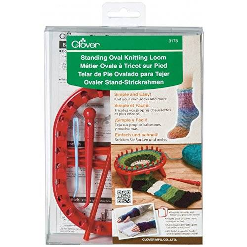 Clover Standing ovale Knitting Loom, in acrilico, multicolore