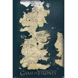 HappyFans Game of Thrones - Poster Map