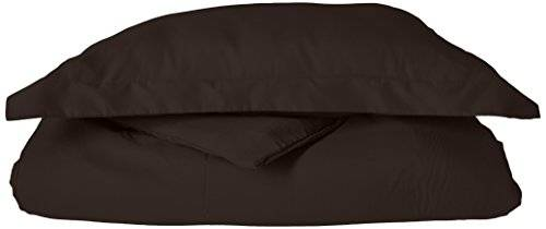 Elegance Linen 1500thread count Wrinkle Resistant ultra soft luxurious Egyptian Quality 2-piece set copripiumino, Black, Twin/Twin XL