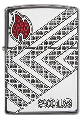 Zippo 17191Annual Lighter 2018Germany–Limited Edition 750Pieces–ARMOR Case Chrome High Polished–Special Collection 2017tempesta accendino, Cromo, Argento, 6x 4x 2cm