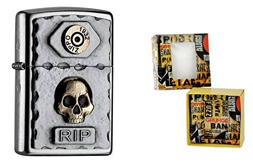 Zippo 15494 – Accendino Rip Premium Gift Set, Special Edition, Collection 2016, articolo numero-2.004.748.4, Street cromo