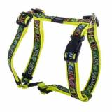 Rogz Scooter Harness DAYGLO floreale 16mm