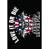 Heart Rock Licensed Bandiera Avenged Sevenfold Love It Or Die Tessuto Multicolore 110X75X0,1 cm