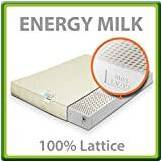 EvergreenWeb Energy Milk Materasso 100% Lattice Matrimoniale Francese 140x200 cm