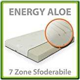 EvergreenWeb Energy Aloe Materasso Waterfoam 7 Zone Matrimoniale Francese 140x190 cm