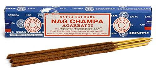 Satya Packs of 3 Original Sai Baba Nag Champa Incense Sticks Agarbatti 15g by