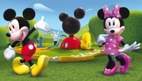 Abc Tappeto Mickey Mouse Clubhouse Verde/Azzurro 100 x 170 cm