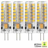 Sunix 4PCS Sunix G4 5W Dimmerabile Lampada LED Light Bulb 2835 SMD DC 12V 2700-3200K Bianco caldo SU023