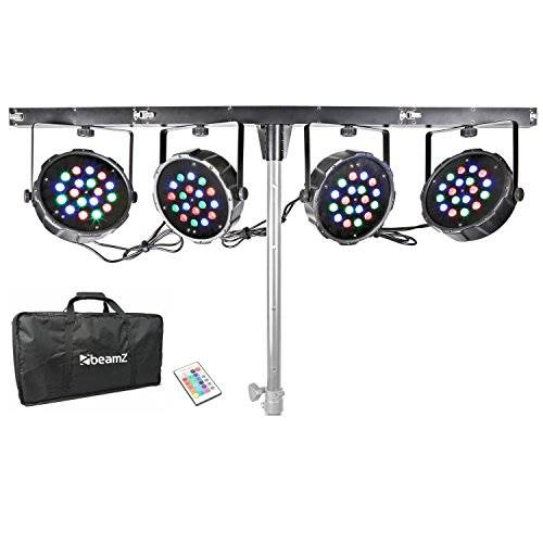 BeamZ LED Parbar 4-Way Kit Black,Grey - stroboscopes & disco lights (Black, Grey, LED, 72 lamp(s), 1 W, Blue, Green, Red, 6 channels)