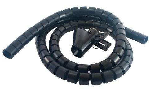 MCL 9G/25-1.5N Cable management Black cable protector - Cable Protectors (Cable management, Black, Plastic, 1.5 m)