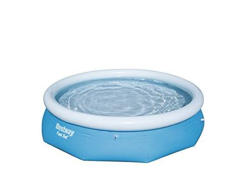 Bestway Fast Set Pool 3.05m x 76cm - blue - Above Ground Pools (Inflatable pool, Round, 3638 L, Blue, PVC, 2 person(s))