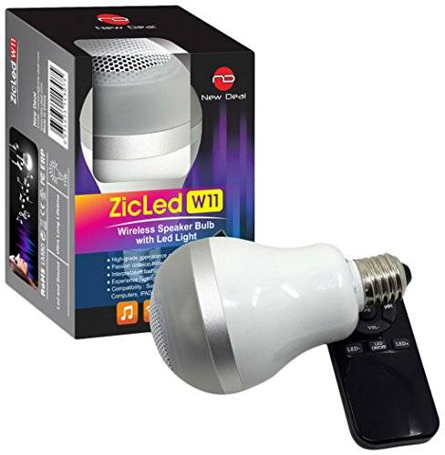 New Deal ZicLed-W11 Lampadina Altoparlante Bluetooth