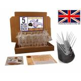 Defender Bird and Pigeon Spikes Full Body uccello piccione e Spikes 5m Gutter Spike Pack–trasparente