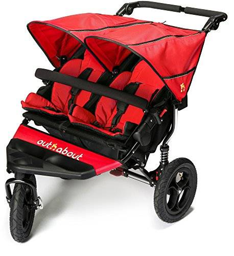 Out 'n' About OutnAbout Nipper doppio v4 Passeggino carnevale rosso
