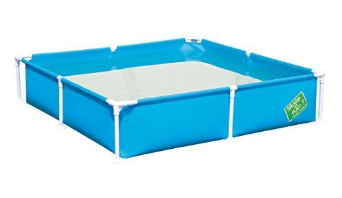 Bestway Steel Pro My First Frame Pool 1.62m x 1.62m x 35.5cm - above ground pools (Framed pool, Rectangular, 771 L, Blue, green, Orange, Steel, 830 mm)