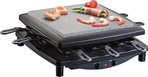 Steba RC 3 8person(s) 1450W Black raclette grill - raclette grills (1450 W, 360 mm, 360 mm, 140 mm, 7.4 kg)