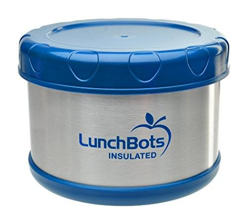 LunchBots Thermal 16-ounce Stainless Steel Insulated Food Container, Dark Blue by LunchBots