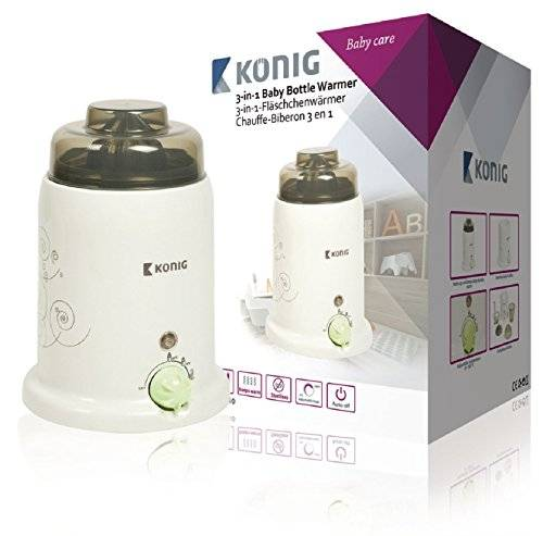 König KN-BW10 bottle warmer - bottle warmers (Brown, White, Plastic, Rotary, 0 - 100 °C)