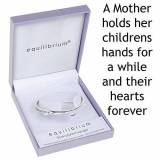 Joe Davies Equilibrium Silver Plated Bangle A Mother Holds Their Childs Hand For A While..And Their Hearts For Ever by