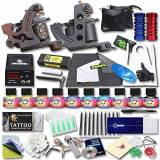TATTOO PHANTLAND YUDO Complete Tattoo Kit 2 Pro Machine Guns 10 USA brand Inks Power Supply Foot Pedal Needles Grips Tips KT-2EU