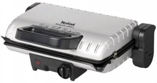 Tefal Minute Grill GC2050 - barbecues & grills (Tabletop, Black, Silver, Rectangular, Aluminium)