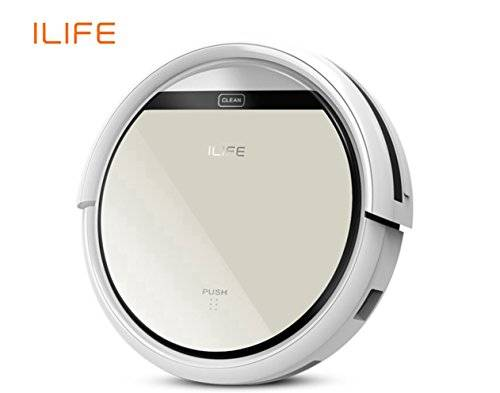 ILIFE V5 Automatic Robot Vacuum Floor Cleaner for Hardwood Flooring and Hard Carpets by i-Life