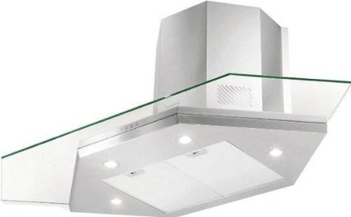 FABER S.p.A. Premio Angolo/SP EG8 X/V A90 Corner Stainless steel,Transparent 695m³/h - Cooker Hoods (695 m³/h, Ducted, 47 dB, 56 dB, 62 dB, 67 dB)
